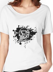White Skull Glow Women's Relaxed Fit T-Shirt