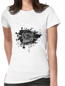 Black Skull Glow Womens Fitted T-Shirt