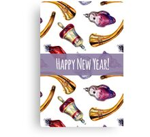 New year and christmas toys Canvas Print