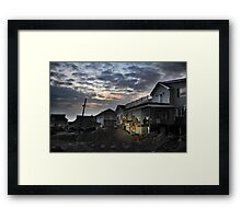 Hurricane Sandy in Bel Harbor, NY - Blackout days Framed Print
