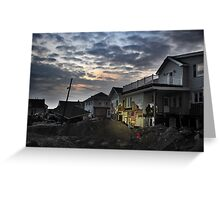 Hurricane Sandy in Bel Harbor, NY - Blackout days Greeting Card