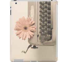 Soft Typewriter and Pink Flower  iPad Case/Skin