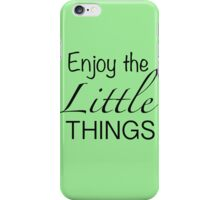 Enjoy the little things - mint green Iphone case  iPhone Case/Skin
