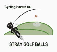 Cycling Hazards - Stray Golf Balls Kids Tee