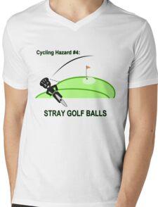 Cycling Hazards - Stray Golf Balls Mens V-Neck T-Shirt