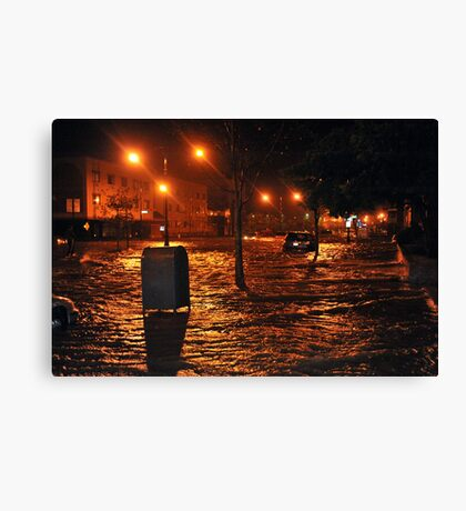 Hurricane Sandy in Brooklyn NY - 9pm, October 29, 2012 Canvas Print