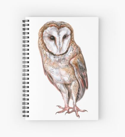Barn owl drawing Spiral Notebook