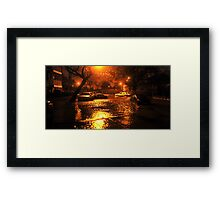 Hurricane Sandy in Brooklyn NY - 11pm, October 29, 2012 Framed Print