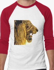 Wild nature - lion Men's Baseball ¾ T-Shirt