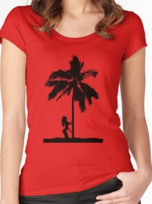 palm woman Women's Fitted Scoop T-Shirt