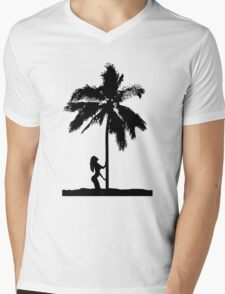 palm woman Mens V-Neck T-Shirt