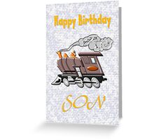 A Loco for a Happy Birthday Son Greeting Card
