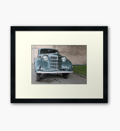 retro car front view Framed Print