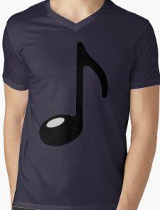black note Mens V-Neck T-Shirt