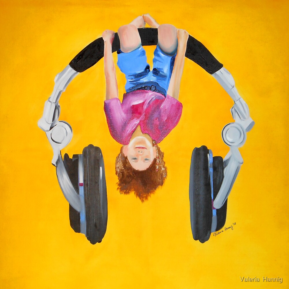 Playing in the headphones by Valeria  Hannig