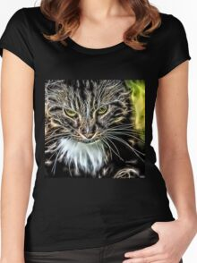 Wild nature - cat #6 Women's Fitted Scoop T-Shirt