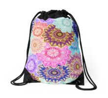Flower Fantasy Drawstring Bag