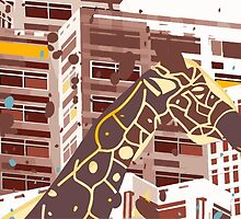 Giraffe from Africa in the City  by SofiaYoushi