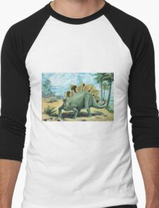 Stegosaurus Men's Baseball ¾ T-Shirt