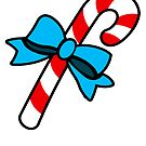 Christmas candy cane - vertical card by timageco
