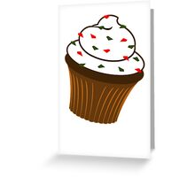 Christmas Cupcake - Vertical card Greeting Card