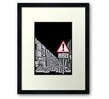 Low Flying Spacecraft Framed Print