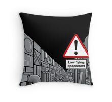 Low Flying Spacecraft Throw Pillow