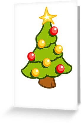 Christmas tree - vertical card by timageco