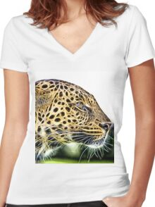 Wild nature - cheetah Women's Fitted V-Neck T-Shirt