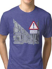 Low Flying Spacecraft Tri-blend T-Shirt