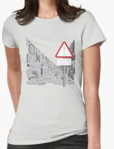 Low Flying Spacecraft Womens Fitted T-Shirt