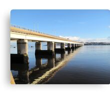 Reflections on the River Tay Dundee Canvas Print