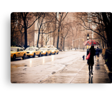 Rain - Washington Square - New York City Canvas Print