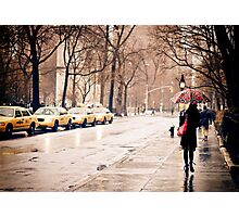 Rain - Washington Square - New York City Photographic Print