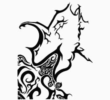 Tribal dragon ink drawing A4 black and white card fantasy art mythical beast illustration stylised fire breathing geek gift idea T-Shirt