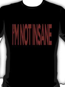 "Avenged Sevenfold ""I'M NOT INSANE"" [Dark] T-Shirt T-Shirt"