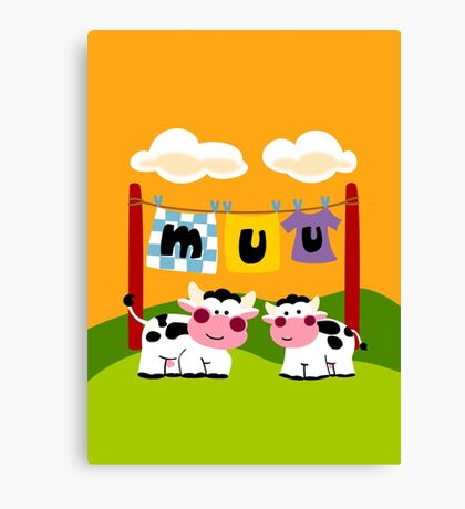 Laundy Cows Canvas Print