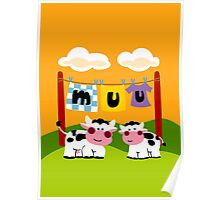 Laundy Cows Poster