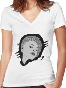 sexy woman Women's Fitted V-Neck T-Shirt