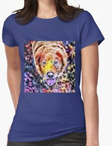 Wild nature - dog #3 Womens Fitted T-Shirt