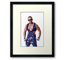 Muscular Male Torso Framed Print