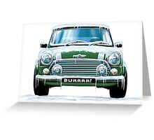 Mini Cooper on Ice Greeting Card