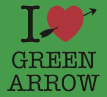 I Heart Green Arrow T-Shirt