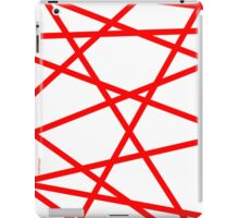 Red Straight Lines Web iPad Case/Skin