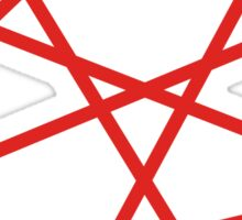 Red Straight Lines Web Sticker