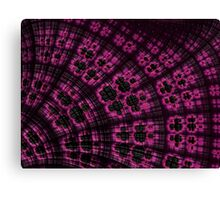 Scallop in Pink and Black Canvas Print