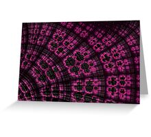 Scallop in Pink and Black Greeting Card