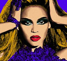 Beyonce Pop Art - #beyonce #beehive by jaffrywardjr