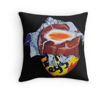 Creme Egg Throw Pillow