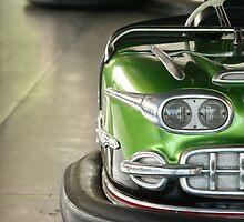 Green - Kiddieland Bumper Car by runawaywind